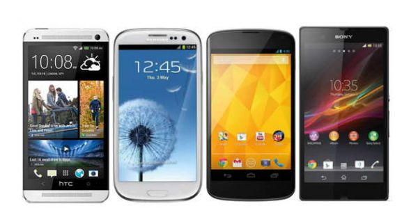 htc-one-samsung-galaxy-s3-google-nexus-4-sony-xperia-z