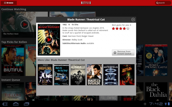 netflix android Best Android Apps for Tablet 2013