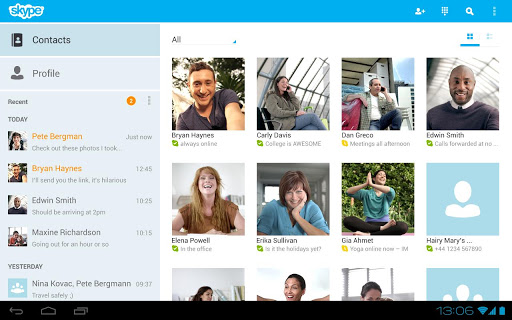 skype for android tablets Best Android Apps for Tablet 2013