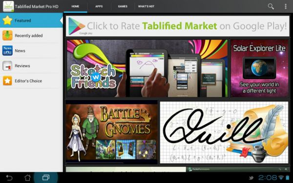tablified market hd pro Best Android Apps for Tablet 2013