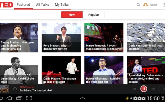 ted android app 580x358 Best Android Apps for Tablet 2013
