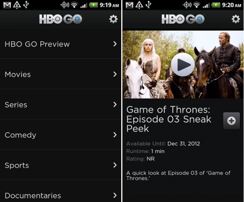 HBO Go Android App How to Watch TV on Android Phone or Tablet