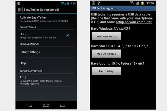 easytether How to Tether Android and Turn Your Phone into a Mobile Wifi Hotspot