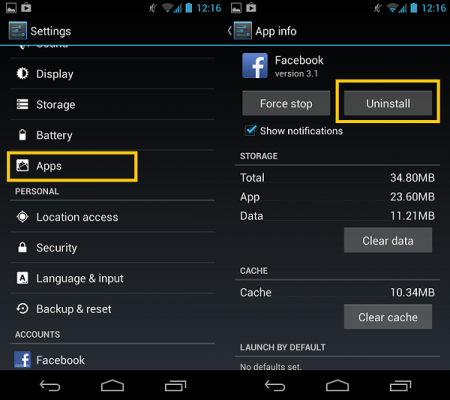 uninstalling apps How to Reset Android Phone to Factory Settings