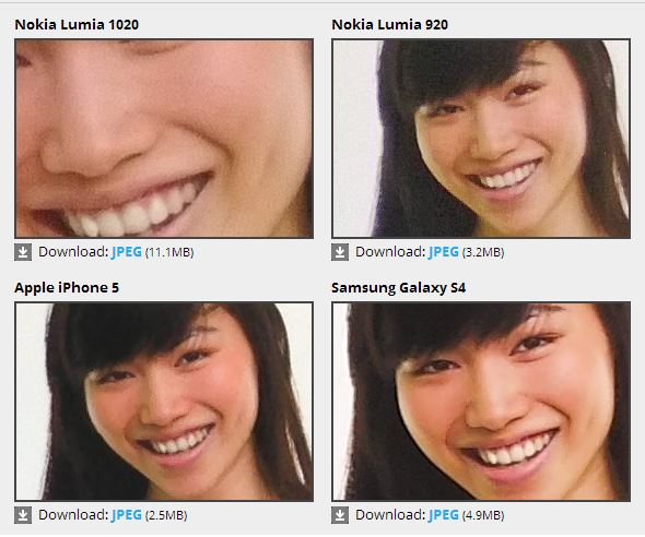 lumia 1020 galaxy4 2 Nokia Lumia 1020 vs Samsung Galaxy S4 vs Motorola X: Lumia 1020 Is Much Less Impressive than Expected