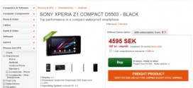 Sony Xperia Z1 Compact Priced at €520 in Europe